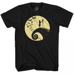 Disney Nightmare Before Christmas Jack Sally Moon T-Shirt