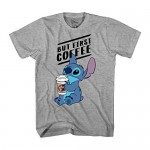 Disney Lilo and Stitch Coffee First Adult T-Shirt