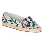 BURBERRY Women's Floral Canvas Brit Hodgeson Espadrille Flats Shoes