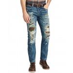 Polo Ralph Lauren Men's Varick Slim Straight Fit Ripped Jeans