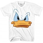 Disney Donald Duck Big Face Zoom Angry Adult T-Shirt