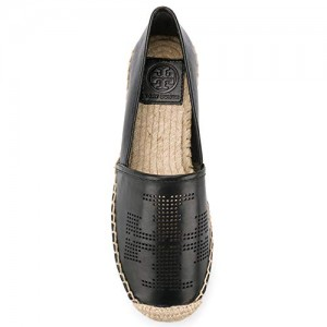 Tory Burch Perforated Flat Espadrille Leather