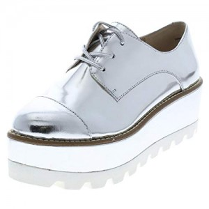 DKNY Womens Uptown Mirrored Leather Oxfords