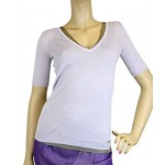 Gucci Short Sleeve Lilac Cashmere Two-Piece Sweater 259923 5363