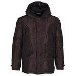 Dolce  Gabbana DG Men's Dark Brown Duck Down Hooded Winter Jacket