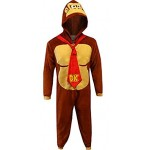 Disney Men's Donkey Kong Cos Play One Piece Pajama Union Suit