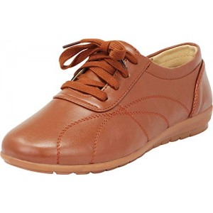 Cambridge Select Women's Padded Comfort Lace-Up Casual Oxford