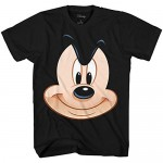 Disney Mickey Mouse Big Face Smile Adult T-Shirt
