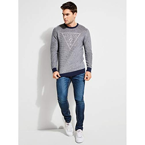 GUESS Men's Dooku Marled Logo Sweater