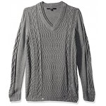 Guess Men's Destroyed Cable Sweater