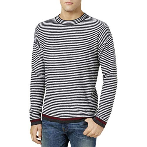 Tommy Hilfiger Mens Cotton Striped Pullover Sweater