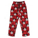 Disney Mens Mickey Mouse Winter Fleece Sleep Pajama Pants