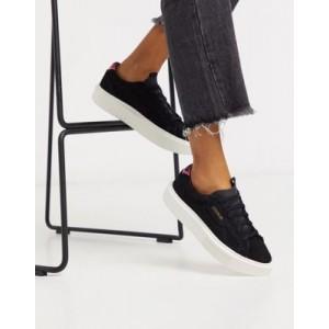 adidas Originals Super Sleek sneakers in black suede