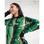 adidas Originals x Anna Isoniemi sequin soccer shirt in green