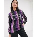 adidas Originals x Anna Isoniemi sequin soccer shirt in purple