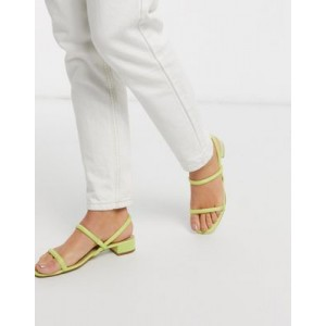ALDO Candidly low heel sandal with tubular strap in yellow