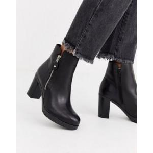 ALDO Giolia side zip leather heel boot