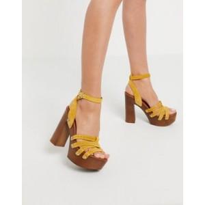 ALDO Hendra platform clog heel sandal in tan suede