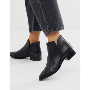 ALDO Kaicien leather low rise boot in black