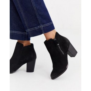 ALDO Naedia side zip round toe kitten heel boot
