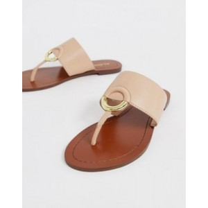 ALDO Ocericia leather ring post sandals in beige