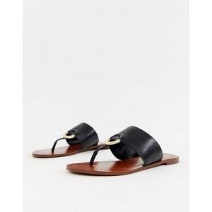 ALDO Ocericia leather ring post sandals in black