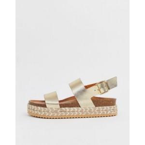 ALDO Ruryan leather espadrille sandals in gold