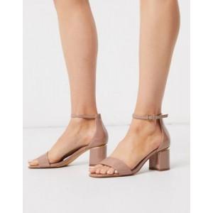 ALDO Valentina kitten heel sandal in patent leather