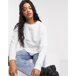 ASOS DESIGN ultimate organic cotton sweatshirt in white
