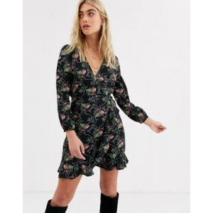 AX Paris long sleeve mini dress in floral