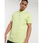 Calvin Klein Golf Splice polo shirt in green stripe