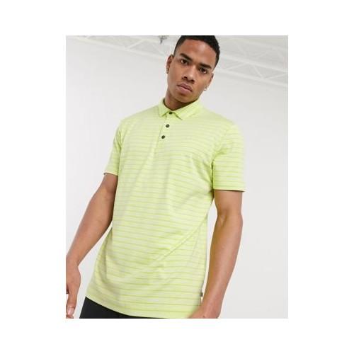 캘빈클라인 Calvin Klein Golf Splice polo shirt in green stripe