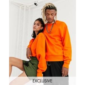 COLLUSION Unisex sweatshirt in bright orange