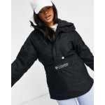 Columbia Challenger pullover jacket in black Exclusive at ASOS