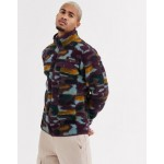 Columbia Mountain Side Heavy full zip fleece in purple camo