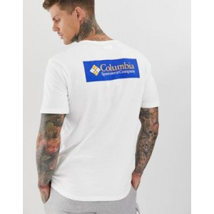 Columbia North Cascades t-shirt in white and blue