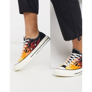 Converse Archive Flame Print Chuck 70 Ox sneakers in black