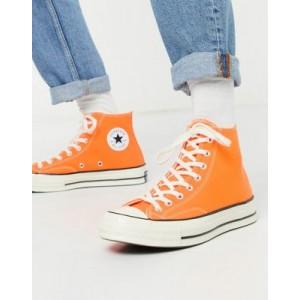 Converse Chuck 70 Hi sneakers in neon orange