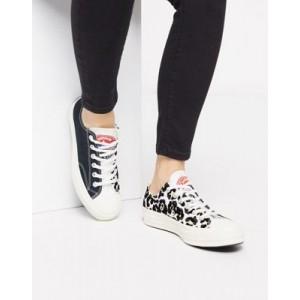 Converse Chuck '70 Ox split logo sneakers in leopard print