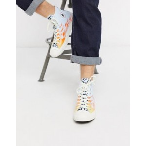 Converse Chuck Taylor All Star Archival Leopard and Flame Print Hi sneakers in multi
