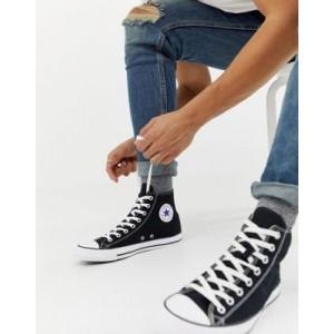 Converse chuck taylor hi sneakers in black