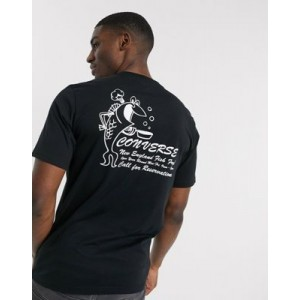 Converse fish fry graphic t-shirt in black