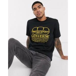 Converse sandwich shop graphc t-shirt in black