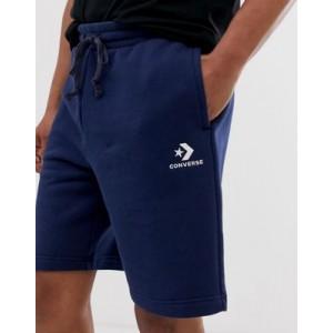 Converse Small Logo Jersey Shorts in Navy