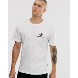 Converse small logo t-shirt in white