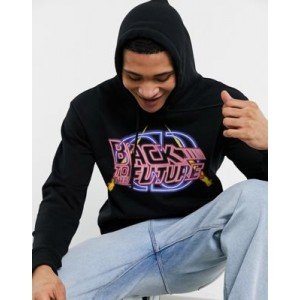 Criminal Damage back to the future serious hoodie in black