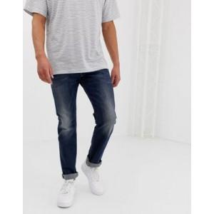 Diesel Belther regular slim fit jeans in 0814W mid dark wash