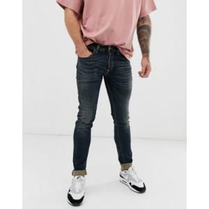 Diesel Sleenker-X skinny fit jeans in 069FX green cast