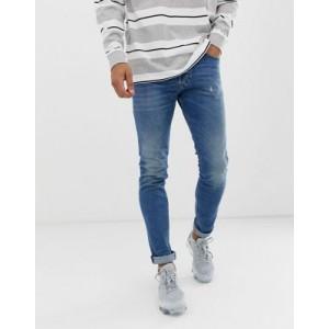 Diesel Tepphar slim carrot fit jeans in 089AW medium wash