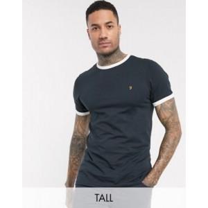 Farah Groves slim fit ringer t-shirt in navy